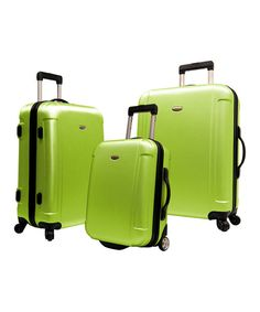 Look at this Apple Green Freedom Three-Piece Travel Case Set on #zulily today!