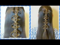 Hairstyles For School, The Palm Tree Bubble Braid Tutorial | Hairstyles For Girls - Princess Hairstyles