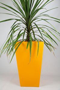 Ecosure Cambridge Tall Garden Planter - Yellow