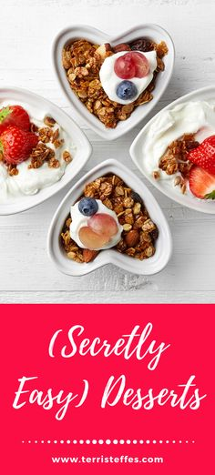 Four easy desserts that will impress your guests! #roastedstrawberries #Profiteroles #cannoli #divinity