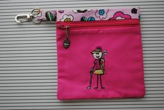Women's Embroidered Golf Tee Bag by pcowden2001 on Etsy, $8.99