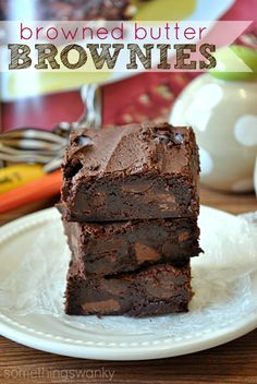Browned Butter Brownes are seriously the best brownies I've ever had! Super decadent, but I could still eat an entire pan. -Something Swanky