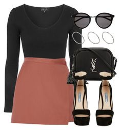 """""""Style #10117"""" by vany-alvarado ❤ liked on Polyvore featuring Topshop, Theory, Yves Saint Laurent, Prada and ASOS"""