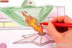 всегда картинки вечный огонь рисунок по этапно виде любого