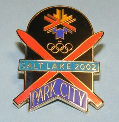 Salt Lake City 2002 Olympics Park City Utah Skis Crossed Pin | eBay