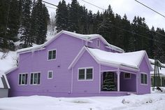 Purple home in Park City Utah. No kidding, this is my Aunt & Uncle's home! It's awesome purple, and gorgeous inside!