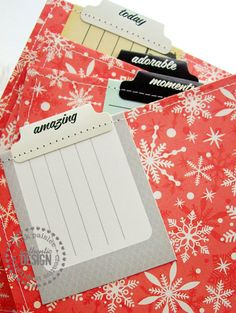Nice tabs Pink Paislee Blog — Pink Paislee  Hmmm...  Fold, sew and create a tab using WE R Memory Keepers File Tab for the girls X-C album... add a pc. of paper for the team members to sign during the awards ceremony?!