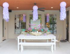 Partyscape from this Under the Sea Birthday Pool Party at Kara's Party Ideas. See more at karaspartyideas.com!
