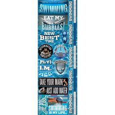 Real Sport Die-Cut Cardstock Stickers - Swimming Combo