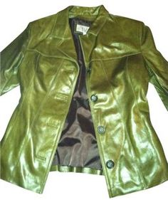 Wilsons Leather Vi Vintage Green Leather Jacket