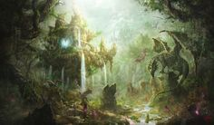 The dragon nest in forest, Whihoon Lee on ArtStation at http://www.artstation.com/artwork/the-dragon-nest-in-forest