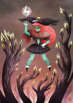 The crow girl by Adrian Bloch. http://adrian-bloch.blogspot.fr