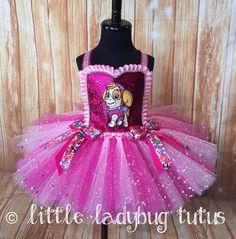 Skye Sparkly Paw Patrol Girls Tutu Dress. Birthday Tutu Dress. Paw Patrol Birthday. by LittleLadybugTutus