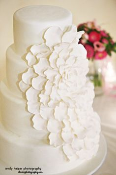cascading fondant flower wedding cake, also wanted to show you a new amazing weight loss product sponsored by Pinterest! It worked for me and I didnt even change my diet! I lost like 16 pounds. Check out image