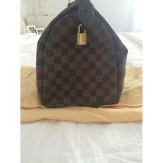 LOUIS VUITTON Brown Leather Handbag Speedy