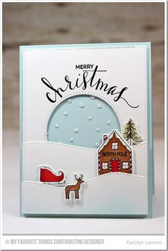 Winter Wonderland, Hand Lettered Holiday, Blueprints 12 Die-namics, Stitched Snow Drifts Die-namics, Winter Wonderland Die-namics, Snowfall Stencil - Karolyn Loncon #mftstamps