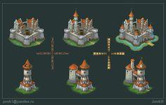 Buildings for game. Part 1 by Jonik9i.deviantart.com on @DeviantArt