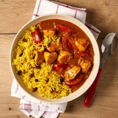 Mild Chicken Curry Recipe | Gousto Mild Chicken Curry Recipe, Chicken Recipes, Easy Family Meals, Quick Meals, Batch Cooking, Cooking Recipes, Roasted Onions, Cooking Instructions, Cook At Home
