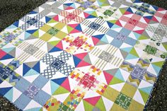 (7) Name: 'Quilting : Mod Nine Patch Quilt Pattern