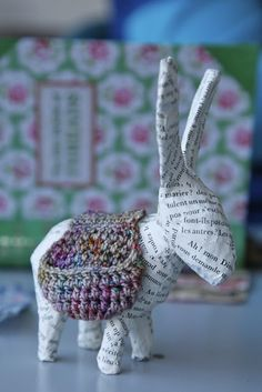 Paper Mache Donkey!