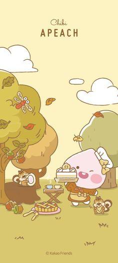 Crazy Wallpaper, Wallpaper Iphone Cute, Cute Simple Wallpapers, Wallpaper Notebook, Kakao Friends, Friends Wallpaper, Kawaii Cute, Emoticon, Cute Drawings