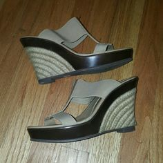 Charles David beige wedge platform shoe Very very comfortable to walk in. light and soft.  Worn only a handful of times. Charles David Shoes Wedges