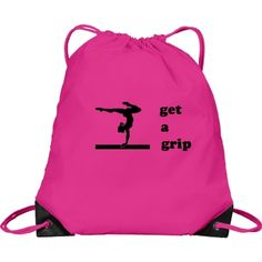 Designed for the people you love, and the things you love to do! Gymnastics Bags, Cinch Bag, Get A Grip, Customized Girl, Eat Sleep, Drawstring Backpack, Breathe, Backpacks, Dance