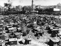 Hooverville in Central Park during the Great Depression.