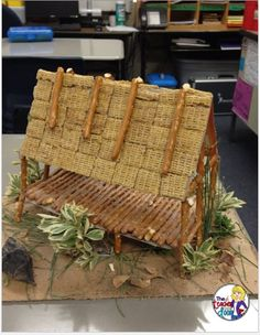 This is an example of a student created project for extra credit. It's called a chickee (Native American home). (image only) Class Projects, School Projects, Projects For Kids, History Projects, Project Ideas, School Ideas, Craft Ideas, 4th Grade Social Studies, Teaching Social Studies