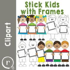 Stick Kids with Frames (perfect for holding QR codes).This clipart for teaching 32 individual files. There are a variety of boys and girls with different skin tones. 24 colored images and 8 blackline images.These are great for task cards, activities where you want to frame an answer or QR code, or where you are providing directions. Reading Lessons, Writing Lessons, Reading Skills, Math Lessons, Spelling Activities, Hands On Activities, Classroom Activities, Second Grade Math, Fourth Grade