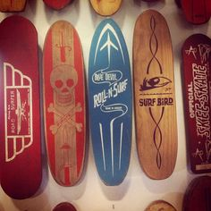 vintage skateboards - my brother and I had the Surf Bird.  His was blue, mine was red!