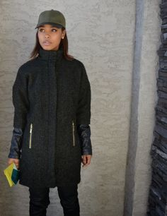 Cocoon Coat plus Leather @Vince Camuto