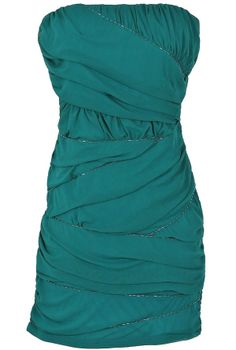 Beaded and Ruched Crisscross Bodycon Dress in Teal  www.lilyboutique.com