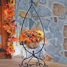 Fleur-de-lis Hanging Basket Stand