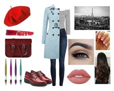 """""""A little France"""" by cheshirecat03 ❤ liked on Polyvore featuring H&M, Betmar, Robert Clergerie, Brooks Brothers, Lime Crime, The Cambridge Satchel Company and Phase Eight"""