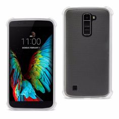 Reiko Lg K10 Transparent Tpu Case Clear With Cushion Shock Absorption Technology