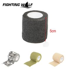 4.5m Camouflage Tape Stretchable Army Bandage Gun Rifle Camera Shooting Hunting Tactical Tape EDC Camping Hiking CS Field Gear