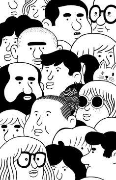 Gentrificación on Behance - illustration character KLAS Illustration Inspiration, Simple Illustration, Character Illustration, Graphic Design Illustration, Japanese Illustration, Japan Graphic Design, Illustration Art Drawing, Fantasy Illustration, Digital Illustration