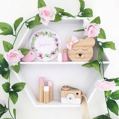 Tessa Bear – Faith Laine Princess Face, Little Princess, Little Girl Rooms, Little Girls, Girl Decor, Wooden Decor, Shelfie, Solid Pine, Wall Treatments