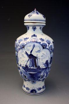Vintage Delft Pottery Herman Jansen Decanter Jug Delfts Schoonhoven Holland NoRe | eBay