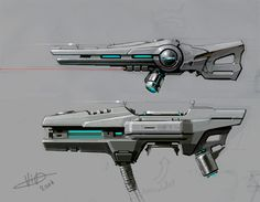 Few designs I did for HB , the goal was to design a distinct weapons with fewer details.