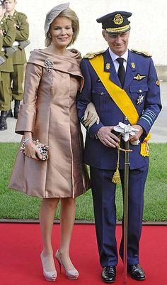 Principes Felipe y Matilde de Belgica ... Boda de Guillermo de Luxemburgo & Stephanie de Lannoy