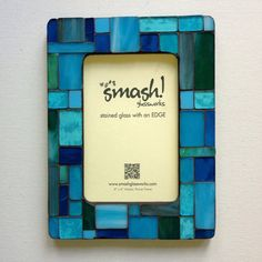 "Stained Glass Mosaic Picture Frame - ""Pastiche: Turquoise"" on Etsy, $32.81 CAD"