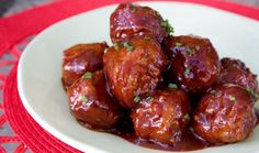 Sriracha BBQ Meatballs (made with two trader joes ingredients) Meatball Recipes, Sausage Recipes, Crockpot Recipes, Cooking Recipes, Trader Joes Turkey Meatballs, Crock Pot Meatballs, Meatless Meatballs, Finger Food Appetizers, Appetizer Recipes