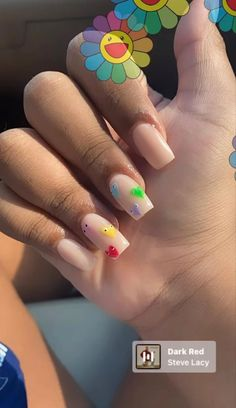 Almond Acrylic Nails, Summer Acrylic Nails, Best Acrylic Nails, Acrylic Nail Shapes, Cute Acrylic Nail Designs, Lily Nails, Jolie Nail Art, Short Square Acrylic Nails, Work Nails