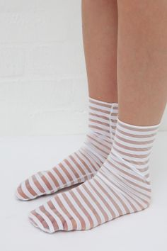Sheer Stripe Pop Socks in White: http://www.thewhitepepper.com/collections/socks-tights/products/sheer-stripe-pop-sock-white