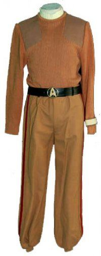 One of the tan uniforms from Star Trek movie V (The Final Frontier).