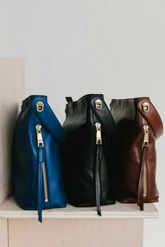 The leather Maya hobo handbag, it doubles as a crossbody with extra functionality.