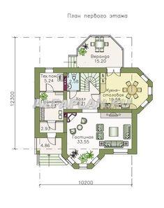 """🏠 """"Классика""""- двухэтажный особняк с эркером: цены, планировка, фото. Купить готовый проект Model House Plan, New House Plans, Dream House Plans, Architecture, Catalog, Villa, New Homes, Floor Plans, 1"""