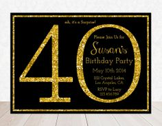 Printable Birthday Party Invitation  40th by designbydetail, $10.00